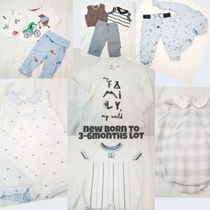 12 piece Newborn to 3-6m Lot bundle